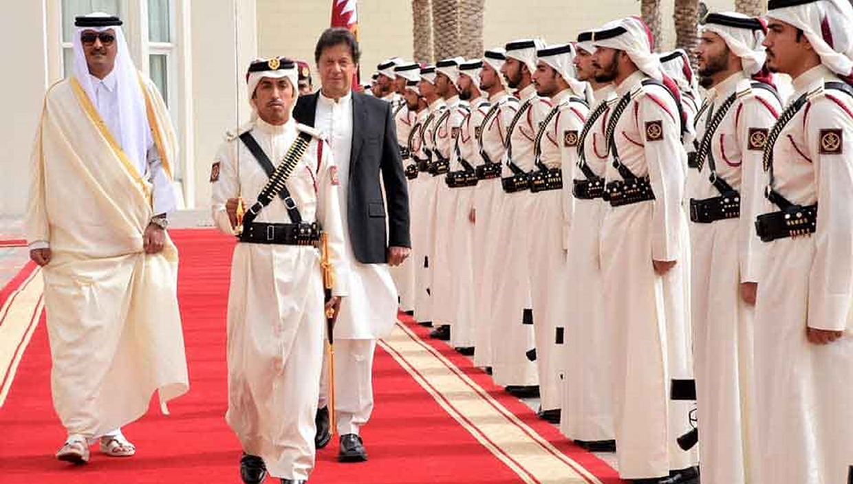Prime Minister of Pakistan Imran Khan wearing ChaCha Noor Din Kaptaan Chappal during state visit of Qatar and meetup with Emir of Qatar, Sheikh Tamim bin Hamad Al Thani.