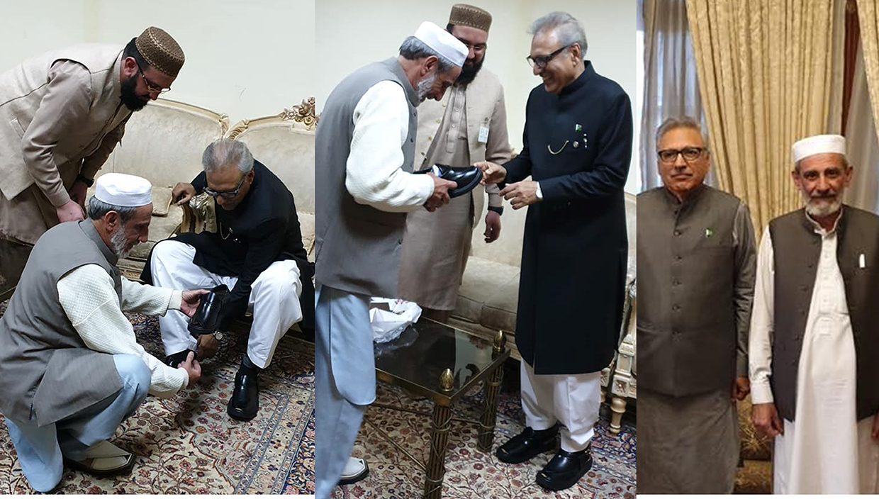 ChaCha Noor Din is Official Shoemaker of President of Pakistan Dr Arif Alvi