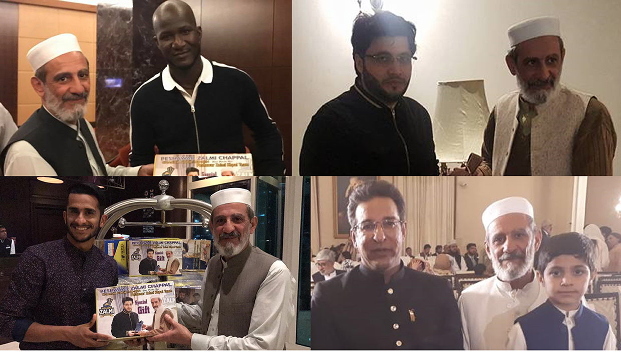 ChaCha Noor Din Kaptaan Chappal is official partner of Peshawar Zalmi, Cricket team. CEO of Haier Pakistan.& owner of Peshawar Zalmi Mr. Javed Afridi, West Indian international cricketer Darren Sammy, Cricket Living Legend Wasim Akram, and Pakistani cricketer Hasan Ali are admirer and customers of ChaCha Noor Din Kaptaan Chappal.