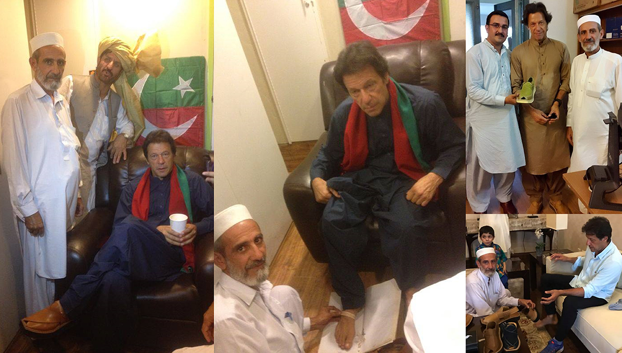 ChaCha Noor Din is creator and official shoemaker of Imran Khan